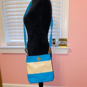 Tory Burch Pierson Swingpack Turquoise Canvas